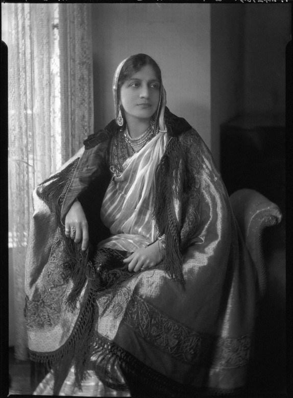 NPG x47709; Lady Allia Abbas Ali Baig by Lafayette (Lafayette Ltd)
