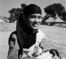 Ph.Studio/January,1956,A49c REPUBLIC DAY CELEBRATIONS 1956: NEW DELHI. A Kulu girl folk dancer.