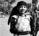 Ph.Studio/January,1956,A08a REPUBLIC DAY CELEBRATIONS 1956: NEW DELHI. A Kulu girl folk dancer.
